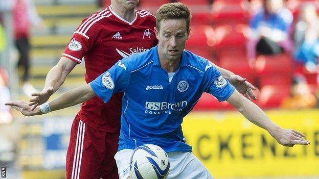 Steven MacLean has scored three times for St Johnstone this season.