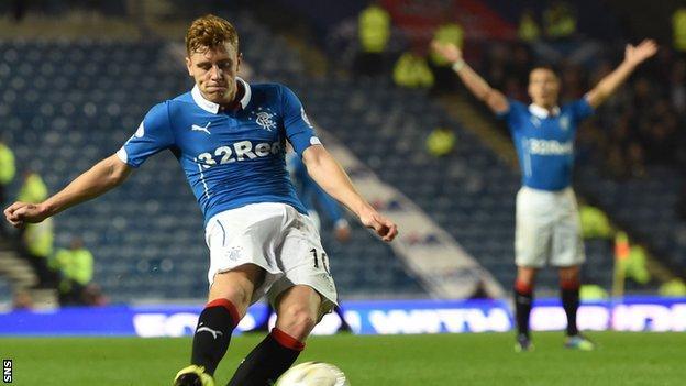 Rangers midfielder Lewis Macleod