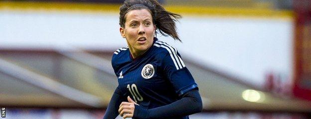 Scotland midfielder Leanne Crichton