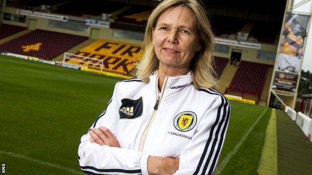 Scotland head coach Anna Signeul