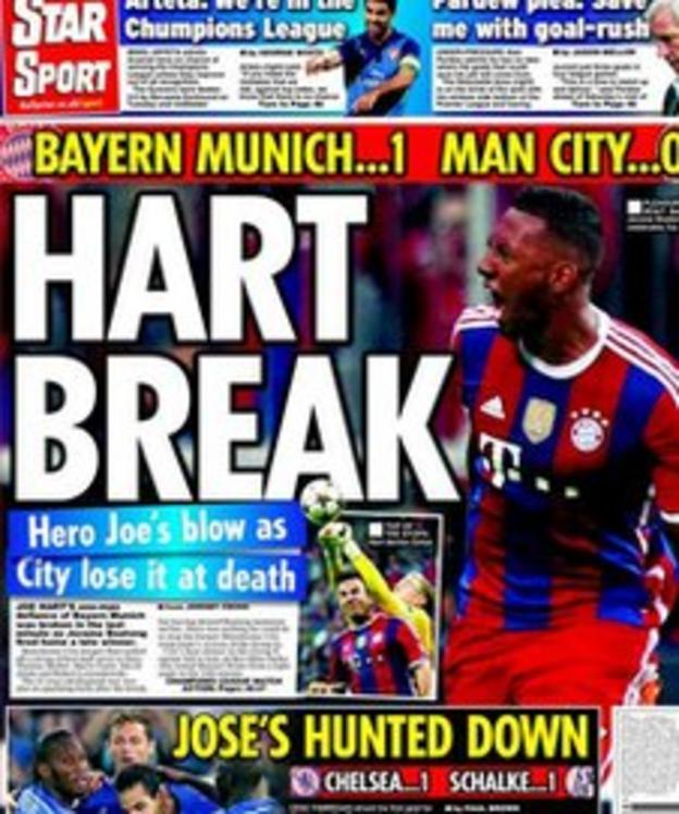 Daily Star's back page