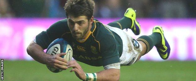 South Africa's Willie le Roux