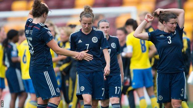 Scotland lost home and away to Sweden in the World Cup qualifiers.