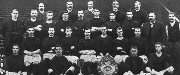 Bristol City's second division-winning side in 1906