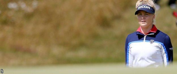 Charley Hull, at 18, was the youngest golfer to be picked to play for Europe in the Solheim Cup