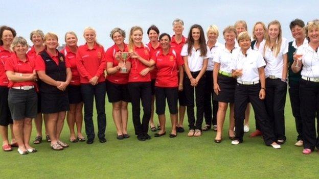Jersey & Guernsey women's golf teams