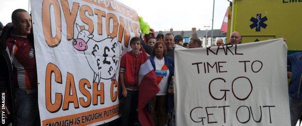 Karl Oystn Blackpool protests