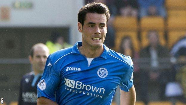 St Johnstone striker Brian Graham