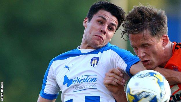 Dan Holman (L) has made four substitute appearances for Colchester this season
