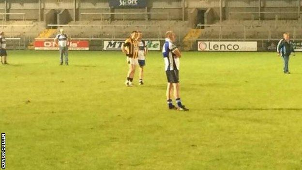 'Action' from the Crossmaglen v Dromintee Armagh Football Championship game