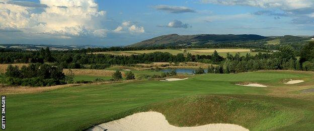 The 419 yards par 4, 8th hole 'Sidling Brows' on The PGA Centenary Course at The Gleneagles Hotel Golf Resort