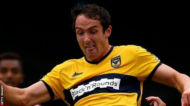Oxford striker Danny Hylton