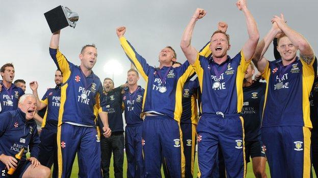 Durham celebrate victory