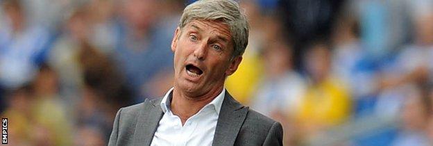 Blackpool manager Jose Riga