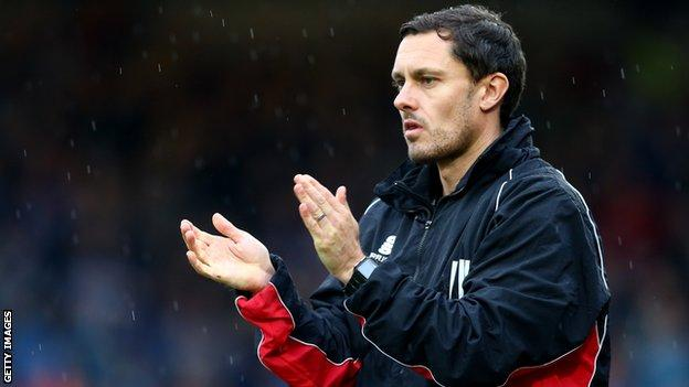 Grimsby manager Paul Hurst