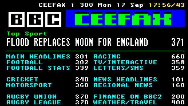 Ceefax on the BBC