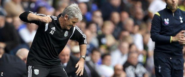 West Brom manager Alan Irvine
