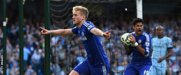 Andre Schurrle's goal was cancelled out by Frank Lampard