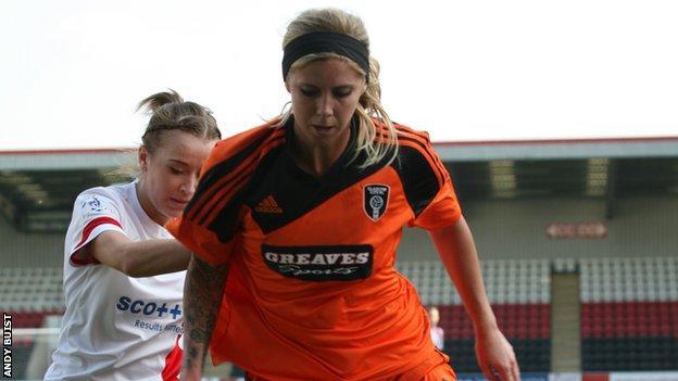 Morgan Marlborough made her Glasgow City debut.