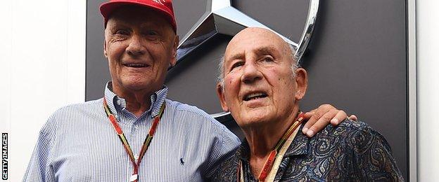 Niki Lauda and Sir Stirling Moss