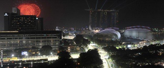 Fireworks over Singapore