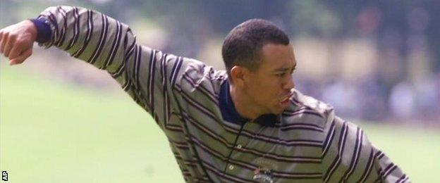 Tiger Woods has a Ryder Cup record of 13 wins, 17 losses and three halves