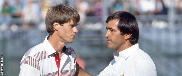 Paul Azinger and Seve Ballesteros