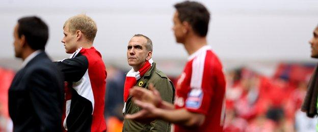 Paolo Di Canio during his time as Swindon manager