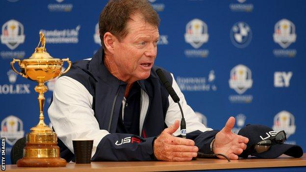 Tom Watson and the Ryder Cup