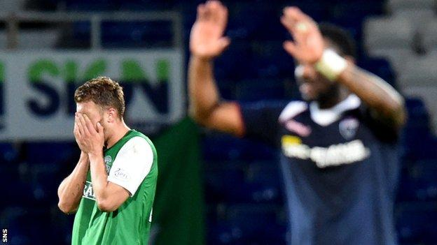 Ross County celebrate against Hibs last season
