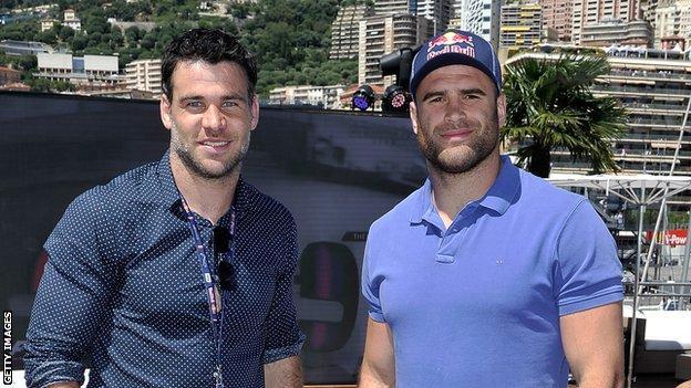 Racing Metro team-mates Mike Phillips and Jamie Roberts
