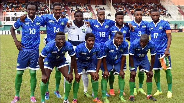 The Sierra Leone national team