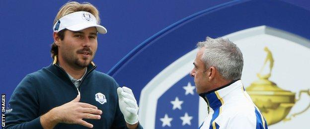 Victor Dubuisson and Paul McGinley