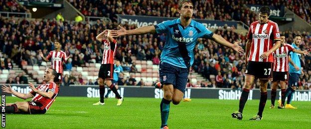 Stoke score at Sunderland