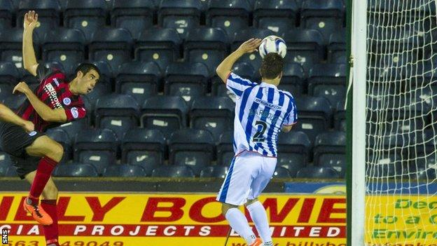 Brian Graham scores for St Johnstone against Kilmarnock