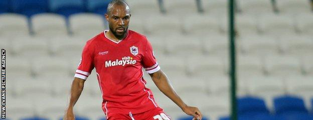Danny Gabbidon made his first Cardiff start in nine years