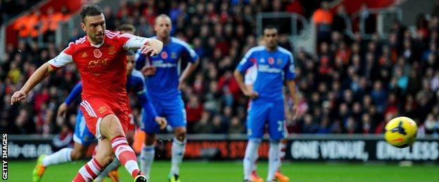 Rickie Lambert regularly scored penalties for Southampton