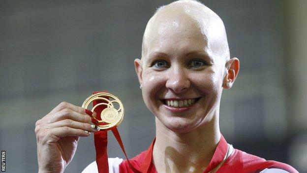 Joanna Rowsell won gold for England in the individual pursuit at this summer's Commonwealth Games