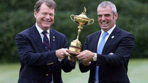 Tom Watson (left) and Paul McGinley