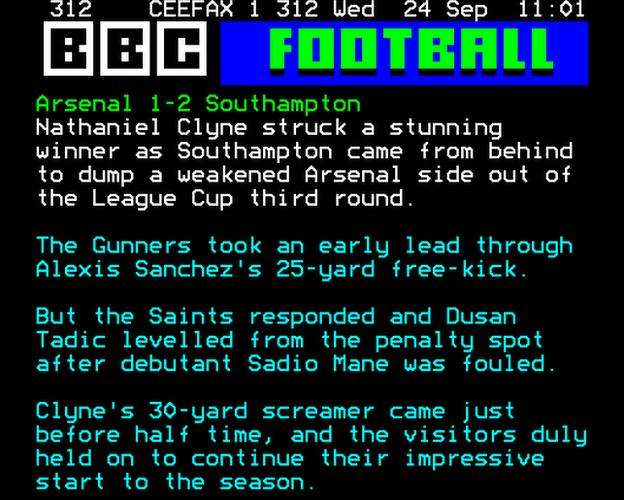 Arsenal v Southampton report
