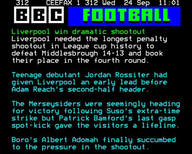 Liverpool v Middlesbrough report