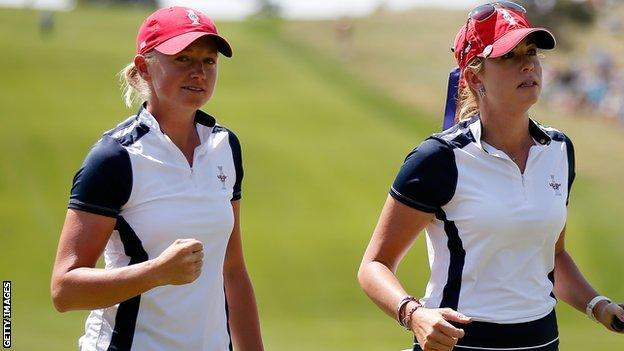 Stacy Lewis (left)