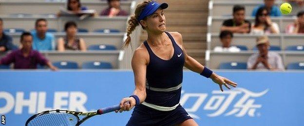 Eugenie Bouchard beats Alize Cornet in the Wuhan Open quarter-finals