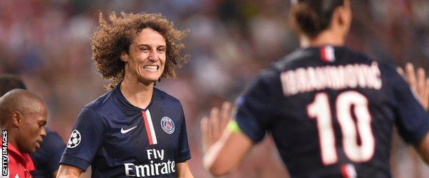 David Luiz of Paris St-Germain