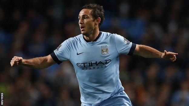 On-loan Manchester City midfielder Frank Lampard