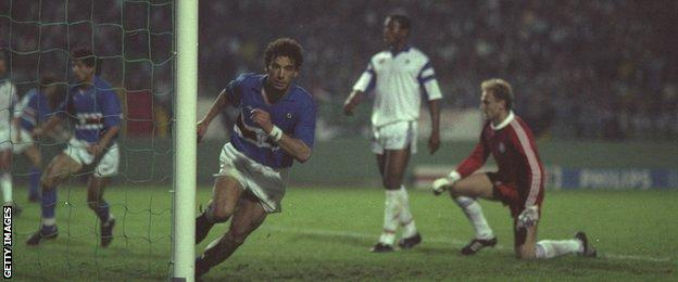 Former Chelsea striker Gianluca Vialli played for Sampdoria between 1984 and 1992