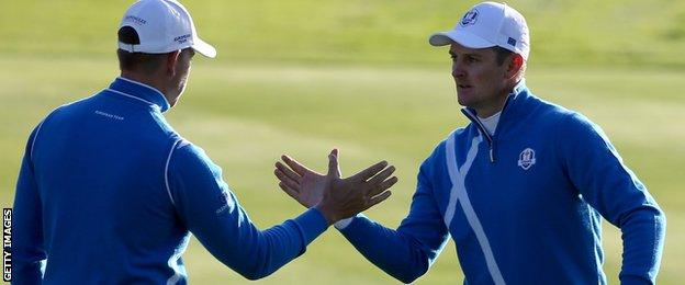 Justin Rose (right) and Henrik Stenson