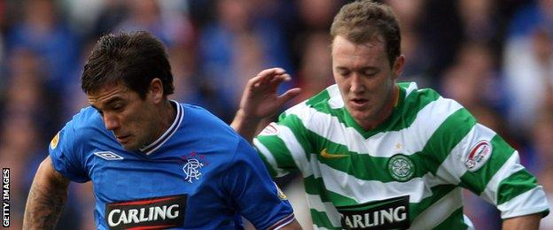 Aiden McGeady played for Celtic against Rangers, as well as for Spartak Moscow against CSKA Moscow