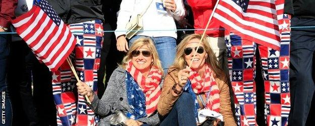 American fans at the Ryder Cup
