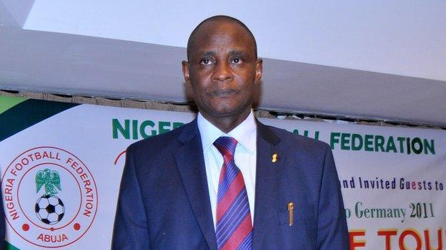 Nigeria Football Federation president Aminu Maigari